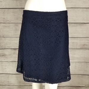 NEW Zara Mini Skater Flared Skirt Crochet L